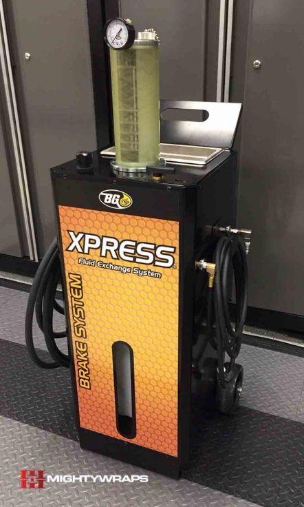 BG Products Express Fluid Exchange System Vinyl Wraps