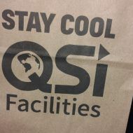 Promotional Products - Quality Solutions Incorporated Logo'd Gift Bag Up Close View