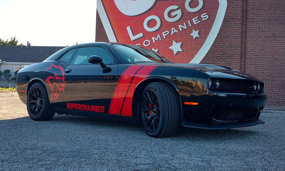 2017 Super Charged Dodge Challenger Hellcat Car Wrap