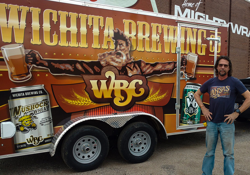 Wichita Brewing Company WBC Trailer Wrap