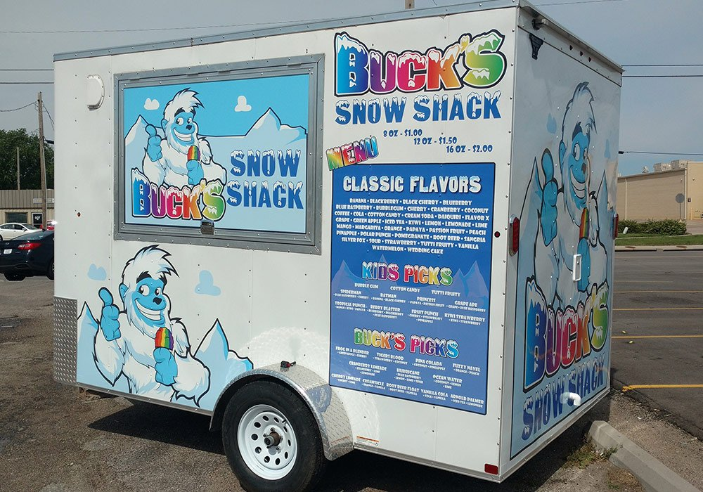 Buck's Snow Shack Trailer Graphics