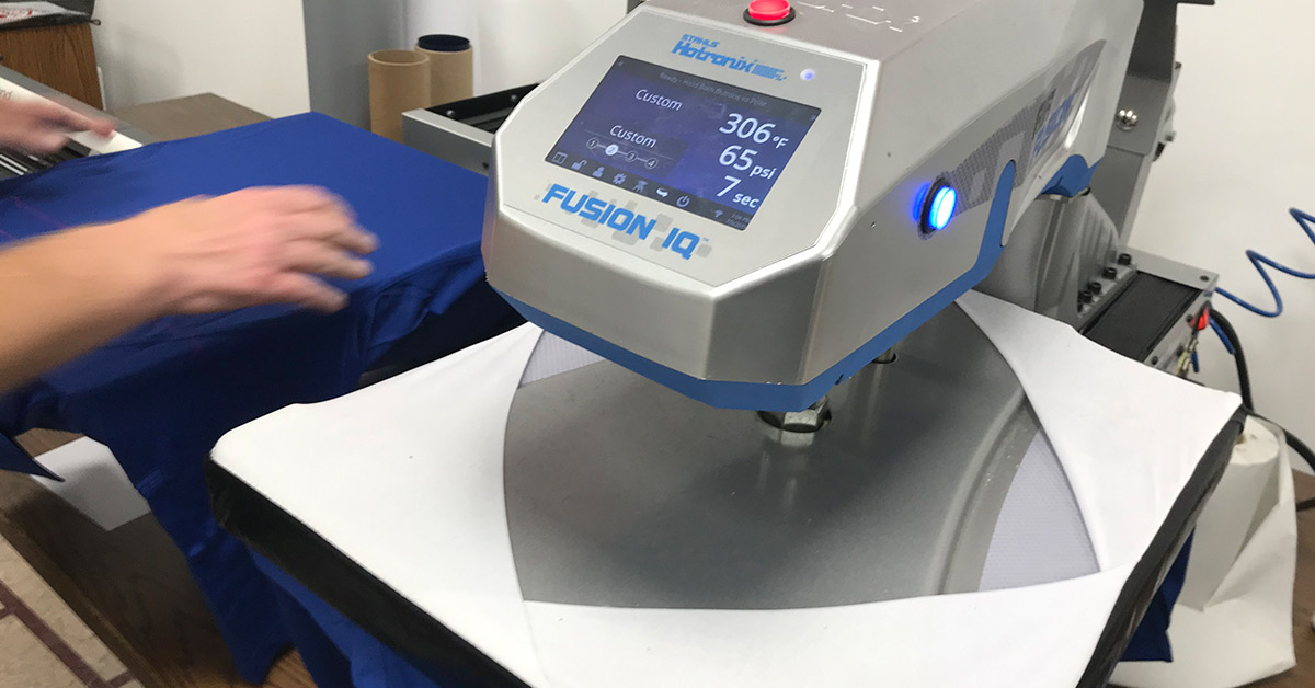Best Custom T-Shirt Printing Methods - A Stahl's HotTronixs Dual Heat Transfer Printing Machine - Fusion IQ