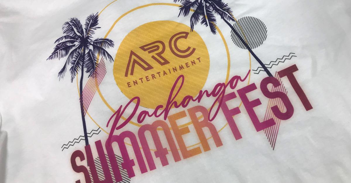 A stretch litho print for ARC Entertainment