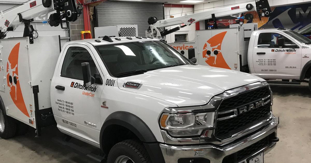 12 advantages of vinyl vehicle wraps vs painting your vehicle - Ditchwitch Undercon Fleet Wrap Spot Graphics