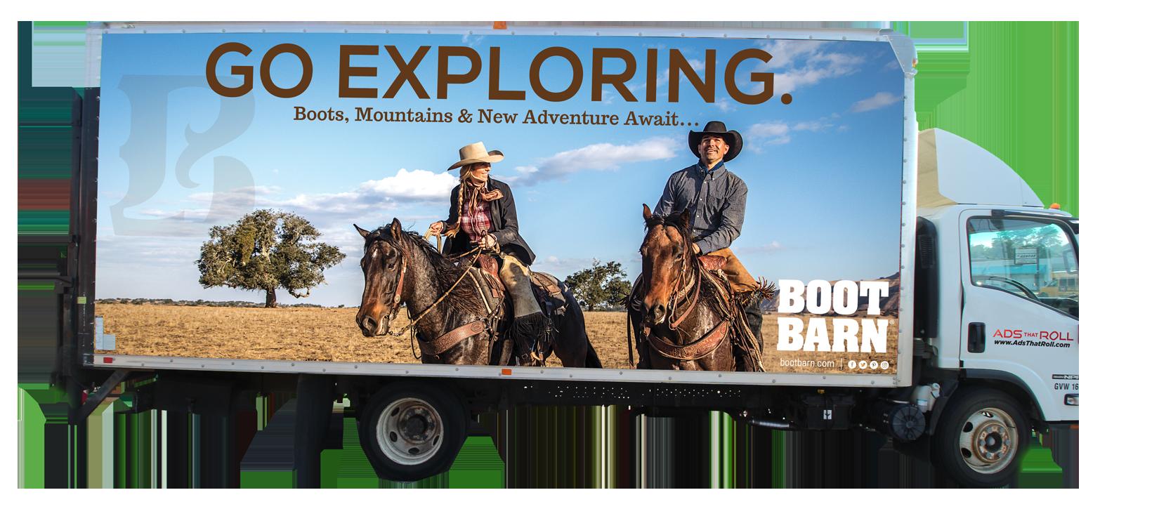 Boot Barn Ads that Roll Box Truck Advertisement
