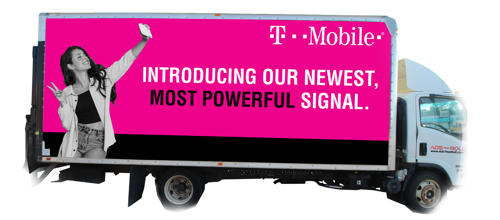 T-Mobile Ads that Roll Box Truck Advertisement
