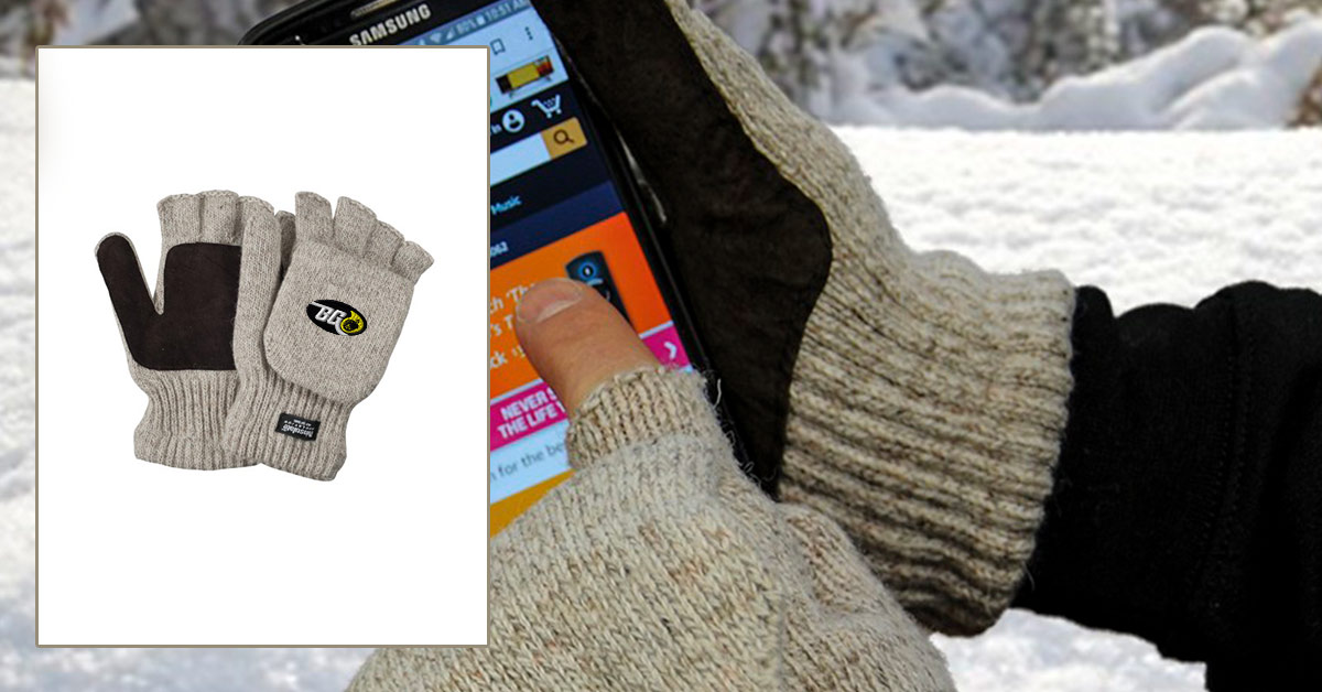 Warm and Fuzzy Giveaways to Raise Brand Awareness - Embroidered gloves