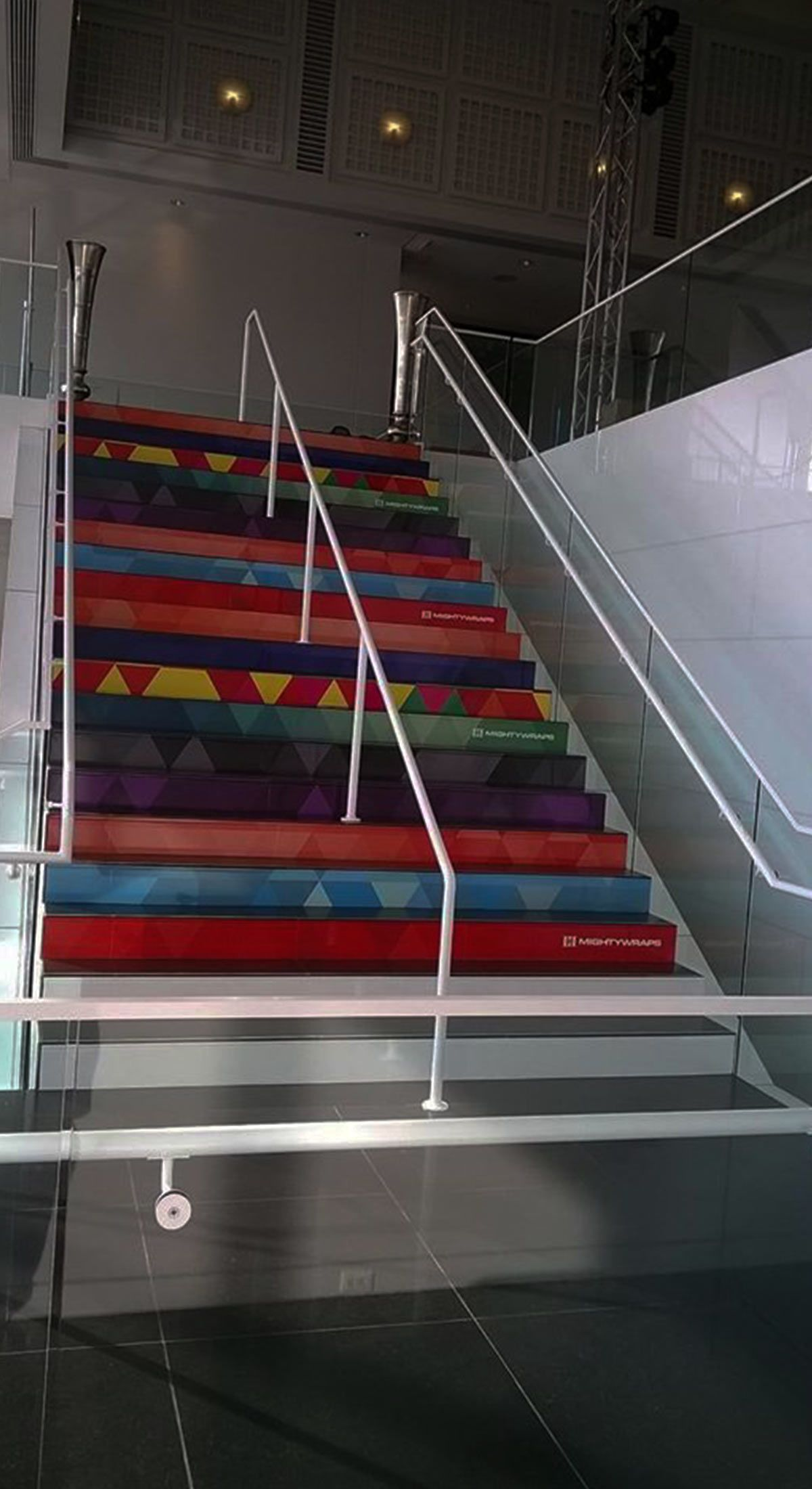 Wichita Art Museum - Staircase and Railing Wraps
