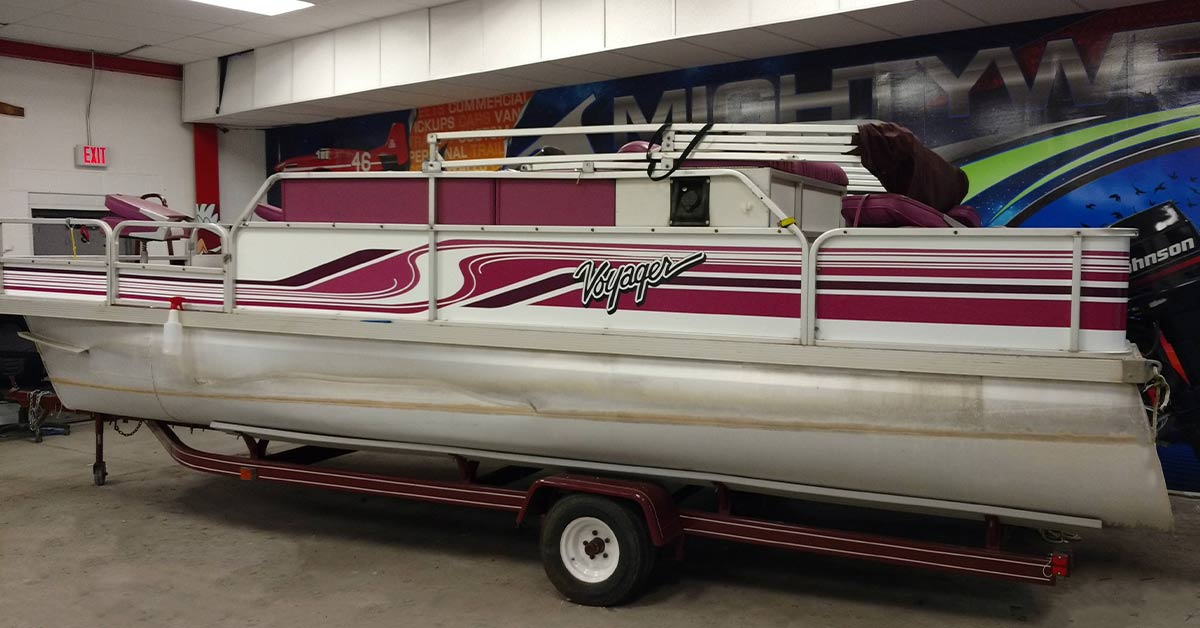 Boat vinyl wraps are safe for the environment. Paint not so much.