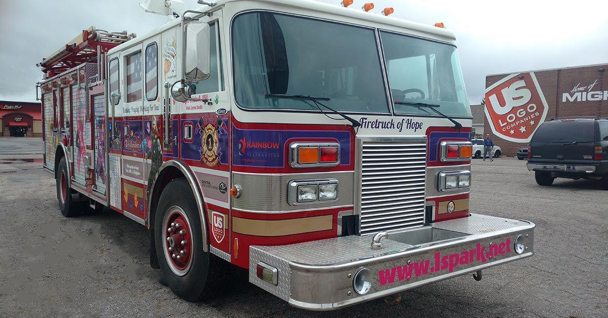 One Spark Firetruck of Hope - Firetruck spot graphics