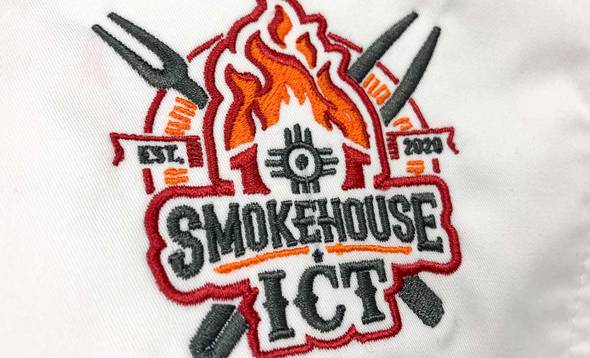 SmokeHouse ICT BBQ Embroidered Chef Apparel