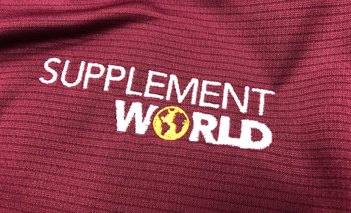 Supplement World Embroidered Workout Apparel