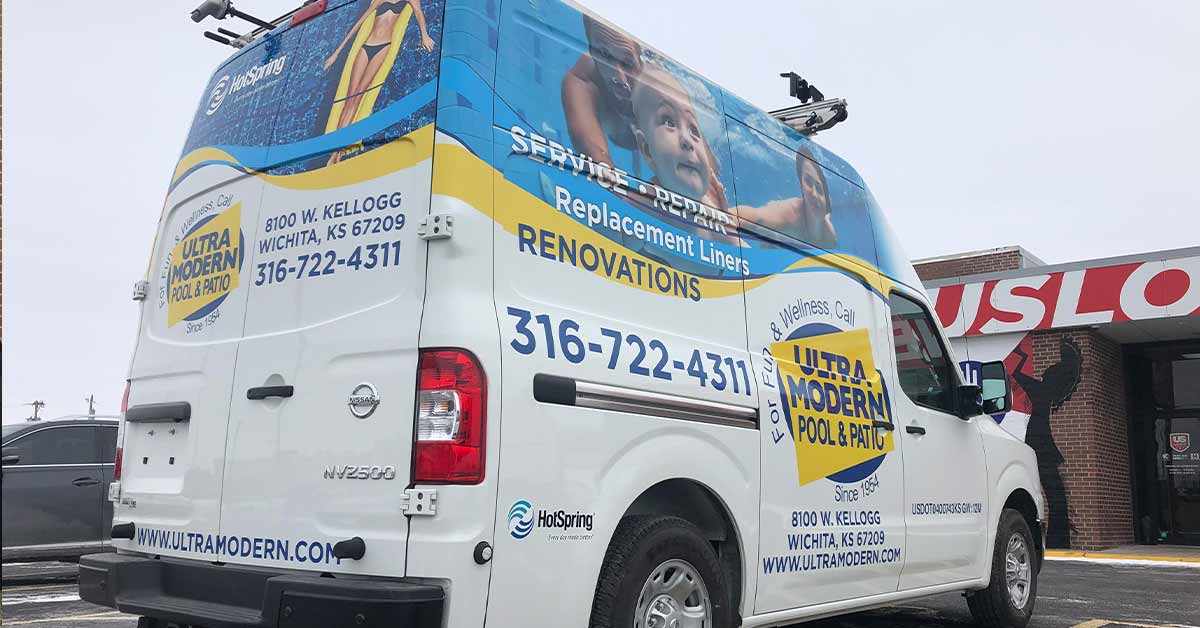 What are Commercial Vehicle Wraps - Ultra Modern Pool and Patio Kansas Commercial Van Wraps
