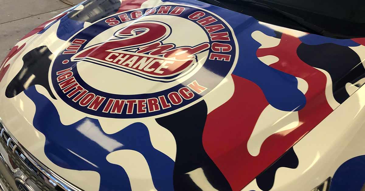 2nd Chance DUI Interlock - Commercial Car Wrap Hood