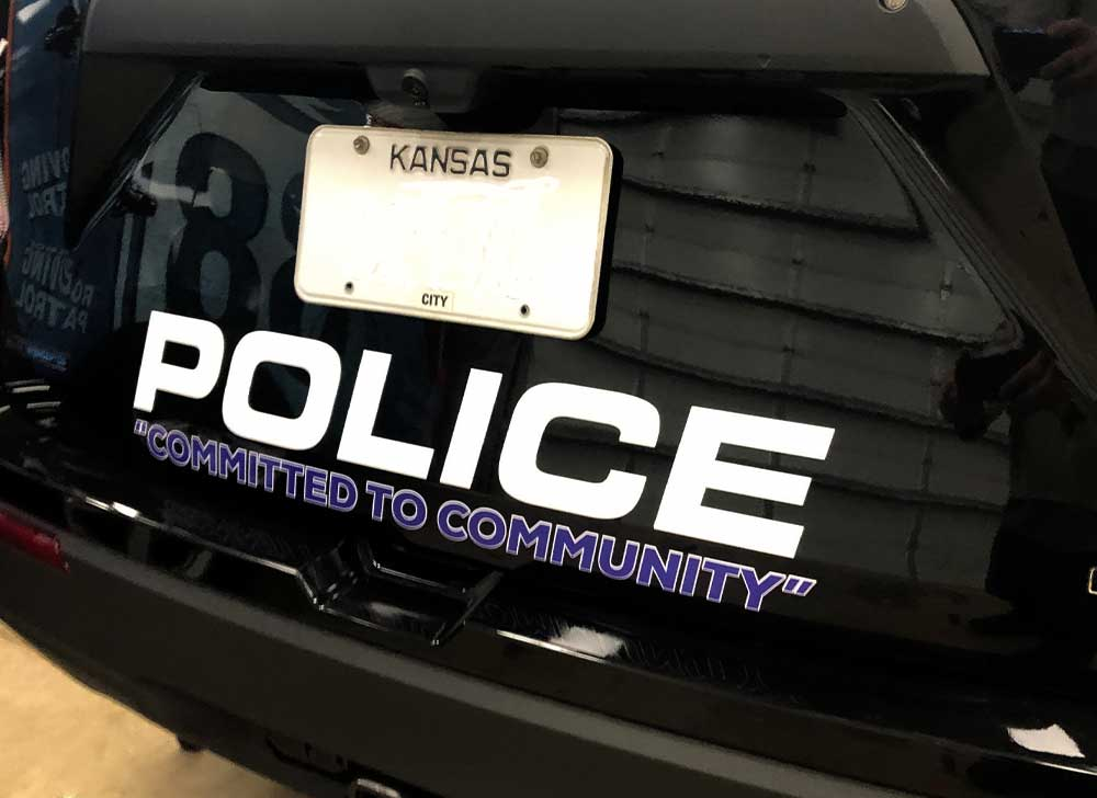 Custom Vehicle Graphics for Law Enforcement -  Rear end of a police SUV wrap