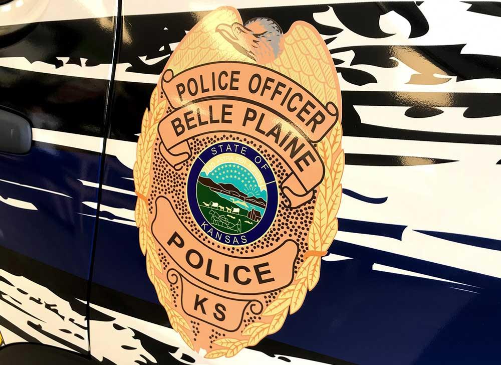 Custom Vehicle Graphics for Law Enforcement - Belle Plaine Police Department Door Decal