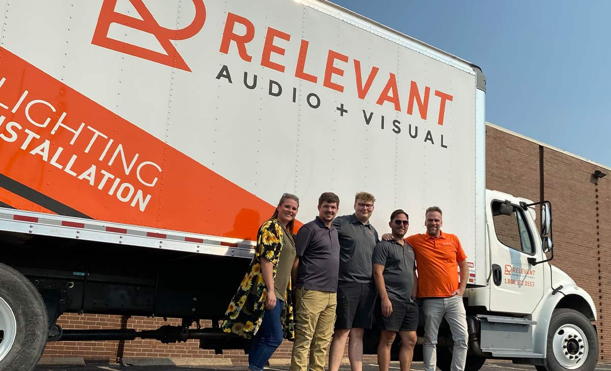What Should My Vehicle Wrap Look Like? - Answer, how about like Relevant Audio's Delivery Truck - Diesel Box Truck Wrap
