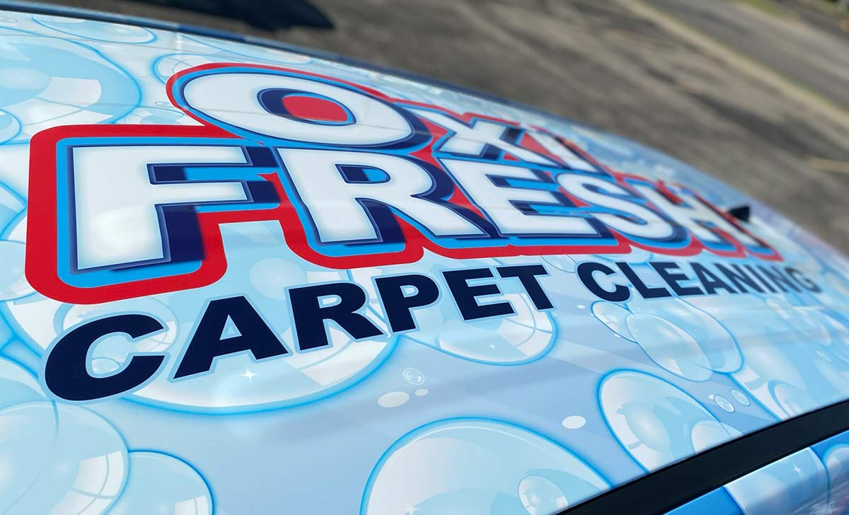 Include the Roof in Your Design - OXi-Fresh Carpet Cleaing Full Coverage Vehicle Wrap