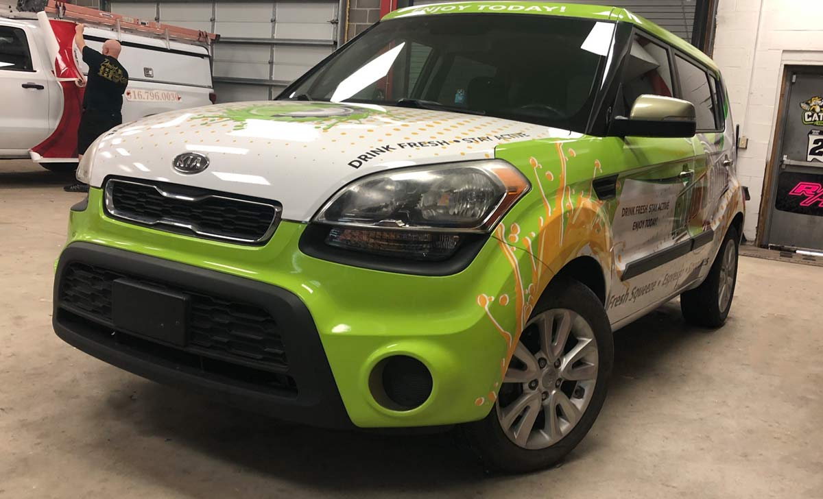 Read This Before Designing Your Company's Vehicle Wraps - Rind and Grind - Full Coverage Kia Soul Vinyl Wrap