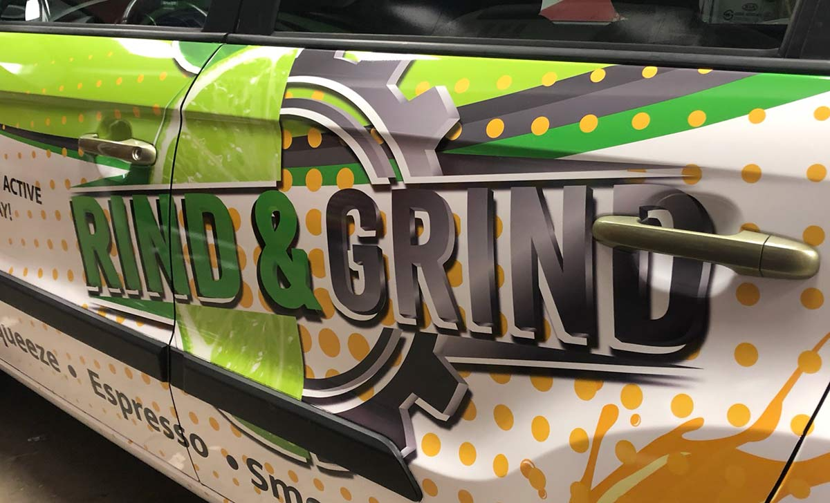 Read This Before Designing Your Company's Vehicle Wraps - Rind and Grind - Full Coverage Kia Soul Vehicle Wrap