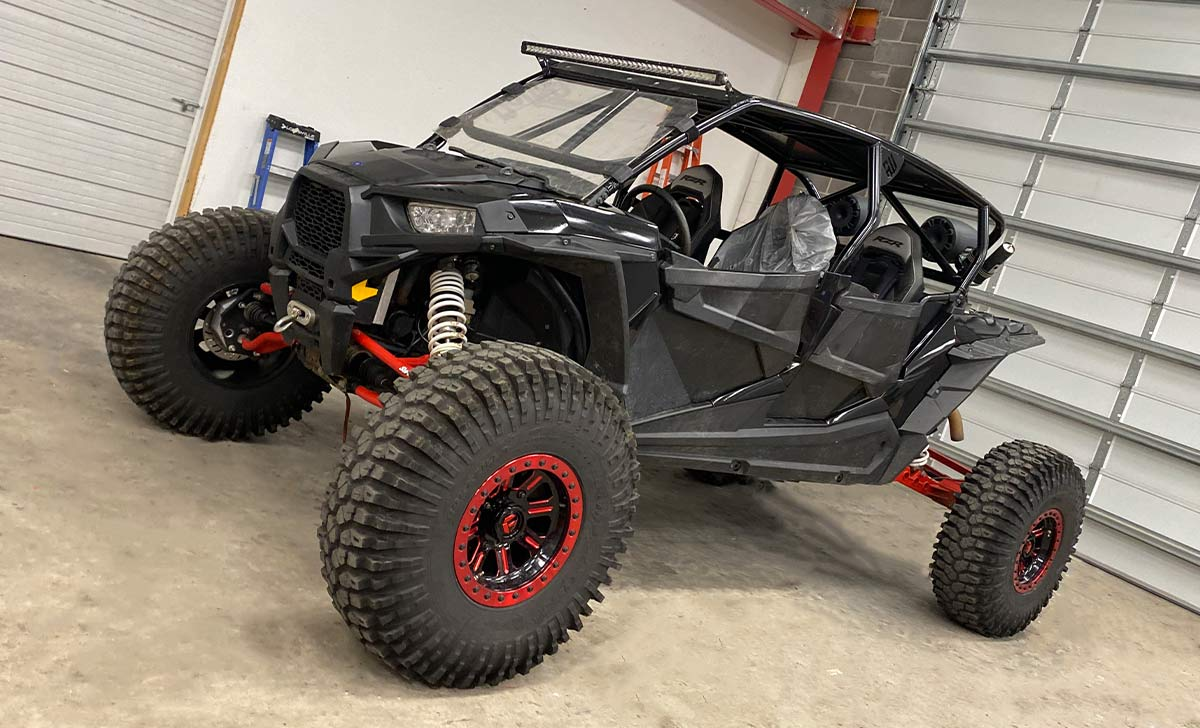 Even Fiberglass or Plastic parts can be wrapped, like this high performance ATV Color Change Wraps